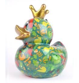 """Pomme-Pidou Spaarpot Eend """"Ducky"""" L groen - Pomme-Pidou"""