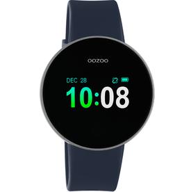 OOZOO Smartwatch Q00206 40mm Zwart/d.Blauw/Grijs - OOZOO