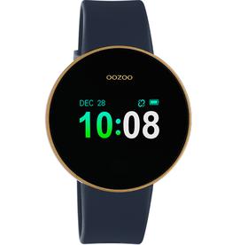 OOZOO Smartwatch Q00207 40mm Zwart/d.Blauw/Goud - OOZOO