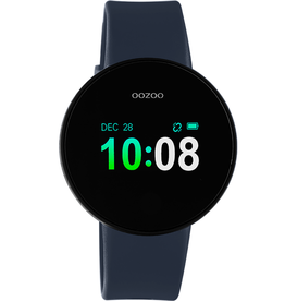 OOZOO Smartwatch Q00208 40mm Zwart/d.Blauw/Zwart - OOZOO