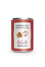 Gelukskoekjes in cadeau Blik - Wishing You Lots of Luck