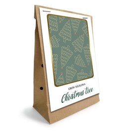 Grow Your own Christmas tree in Kraft Zak