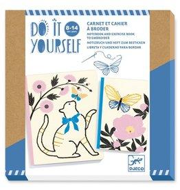 Djeco Do it Yourself Notitieboek en Schrift om te borduren 8-14jr - Djeco