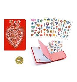 Djeco Notitieboekje met 79 Stickers - Djeco