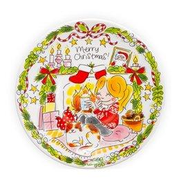 "Blond Amsterdam Ontbijtbord 22cm ""Girl"" Kerst 2020 - Blond Amsterdam"