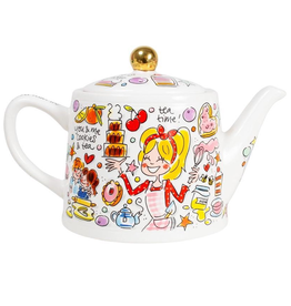 """Blond Amsterdam Theepot You and Me 1,5L """"Even Bijkletsen"""" - Blond Amsterdam"""