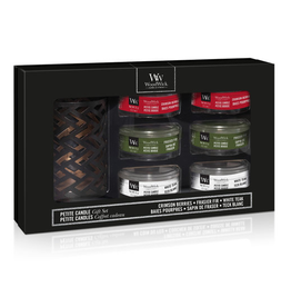 WoodWick GiftSet Six Petite Candles & Petite Candle Holder Winter - WoodWick
