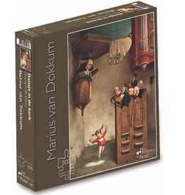 """Puzzel """"Dansje in de Kerk"""" Marius van Dokkum 48,5x34,5cm / 500 pcs"""