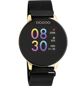 OOZOO Smartwatch Q00122 43mm Zwart/Goud - OOZOO