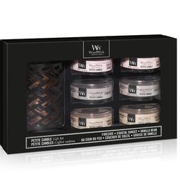 WoodWick GiftSet Six Petite Candles & Petite Candle Holder - WoodWick