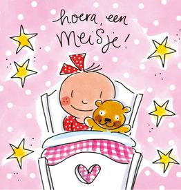 Blond Amsterdam Hoera, een Meisje! - Wenskaart Blond Amsterdam