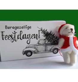Cadeaudoosje Beregezellige Feestdagen met kerstknuffel