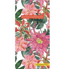 Boodschappenlijst Tropical Flowers - Deltas