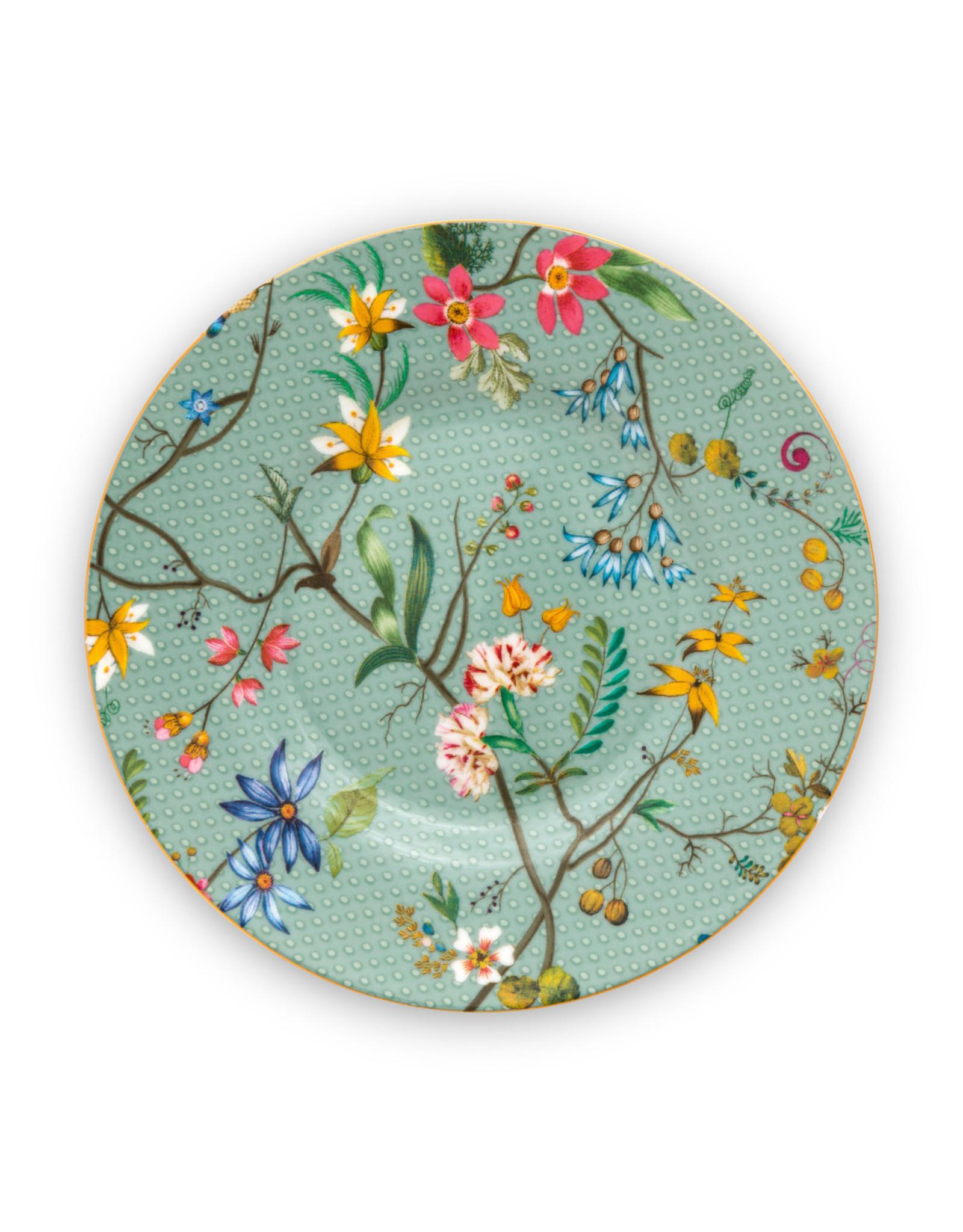 Pip Studio Petit Four Jolie Flowers blauw 12cm  - Pip Studio