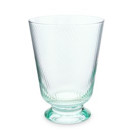 Pip Studio Water Glas Twisted blauw 360ml - Pip Studio