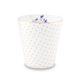 Pip Studio Mok klein zonder oor Royal Dots wit 230ml - Pip Studio