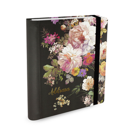 Adresboek A5 Peter Pauper Midnight Floral - Comello