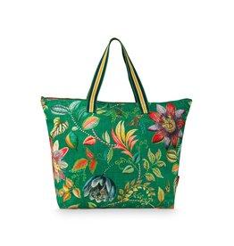 Pip Studio Strandtas / Weekendtas Exotic Garden groen 44x43x20cm - Pip Studio