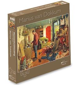 """Puzzel """"Mannenhuishouding"""" Marius van Dokkum 48,5x68cm / 1000 pcs"""