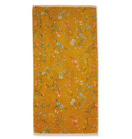 Pip Studio Handdoek groot Les Fleurs geel 70x140cm - Pip Studio