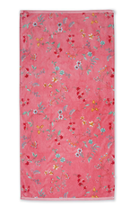 Pip Studio Handdoek groot Les Fleurs 70x140cm roze - Pip Studio
