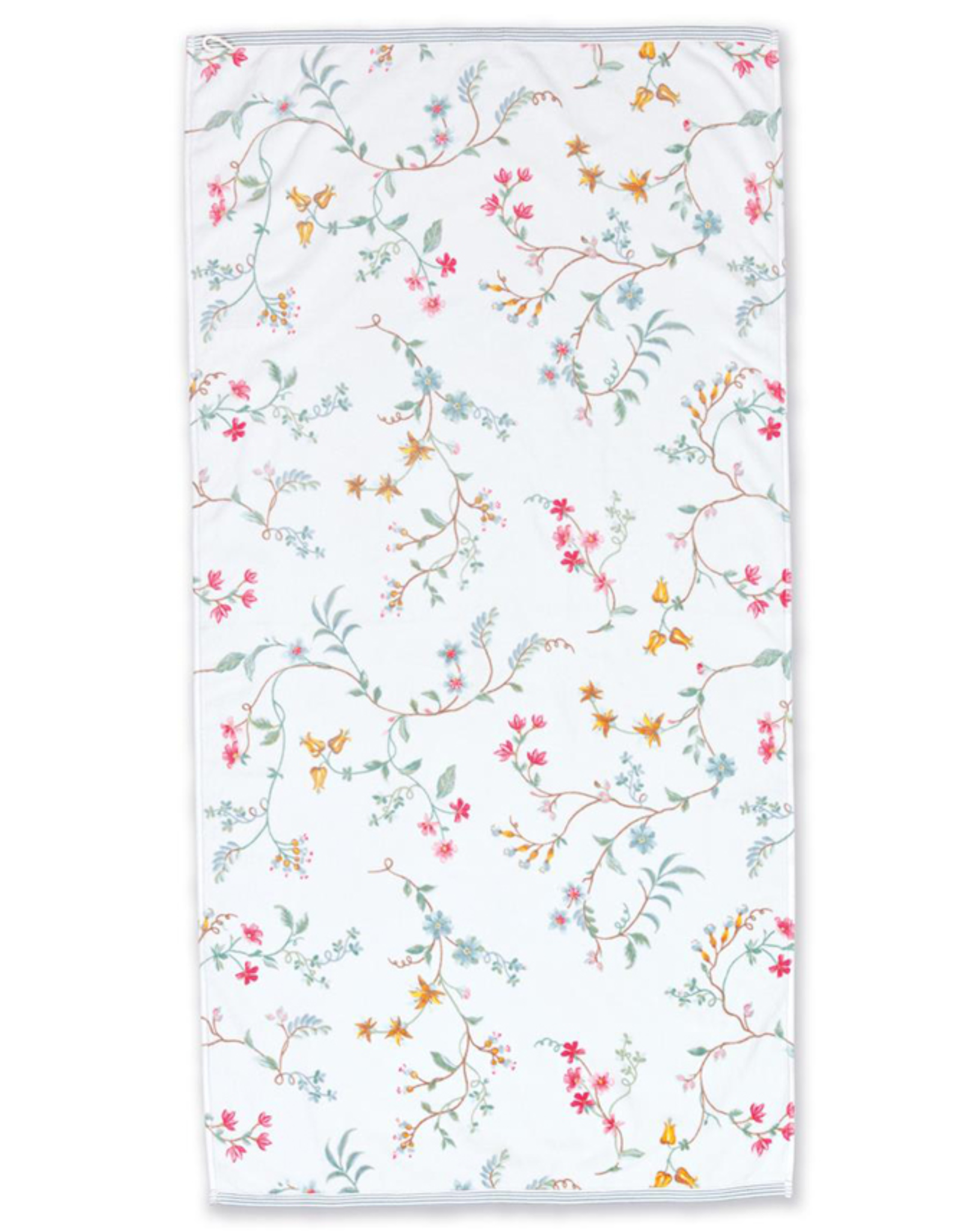Pip Studio Handdoek groot Les Fleurs 70x140cm wit - Pip Studio