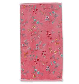 Pip Studio Handdoek Les Fleurs 55x100cm roze - Pip Studio