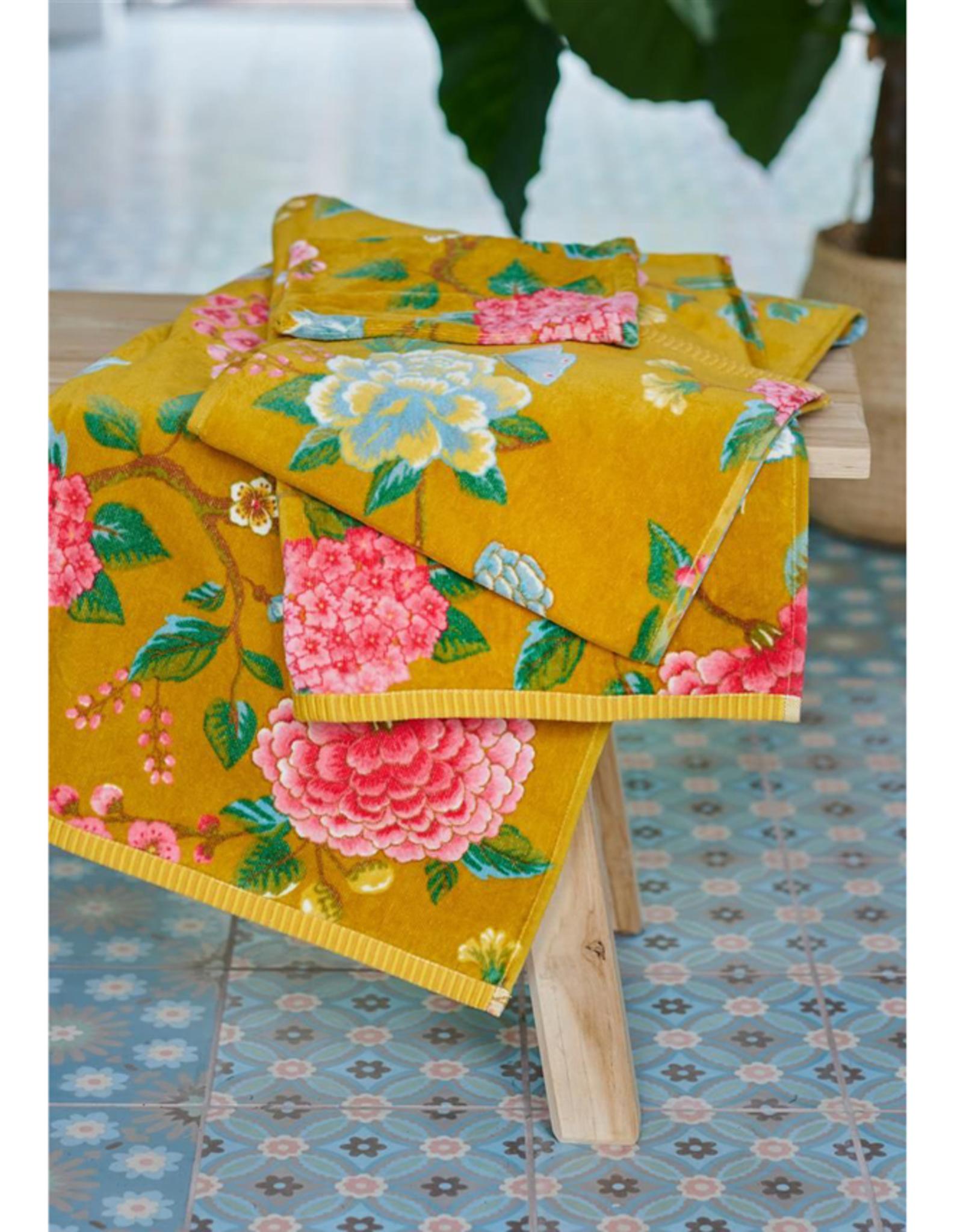 Pip Studio Handdoek groot Good Evening geel 70x140cm - Pip Studio