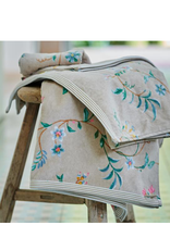 Pip Studio Handdoek groot Les Fleurs 70x140cm Khaki - Pip Studio