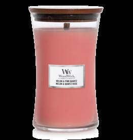 "WoodWick Kaars WoodWick ""Melon & Pink Quartz"" Large - WoodWick"
