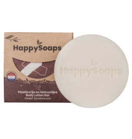 HappySoaps Body Lotion Bar Sweet Sandalwood - HappySoaps