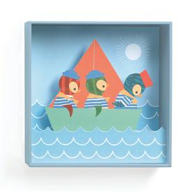 Djeco 3D Schilderij Bootje - Djeco