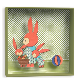Djeco 3D Schilderij Familie Konijn - Djeco