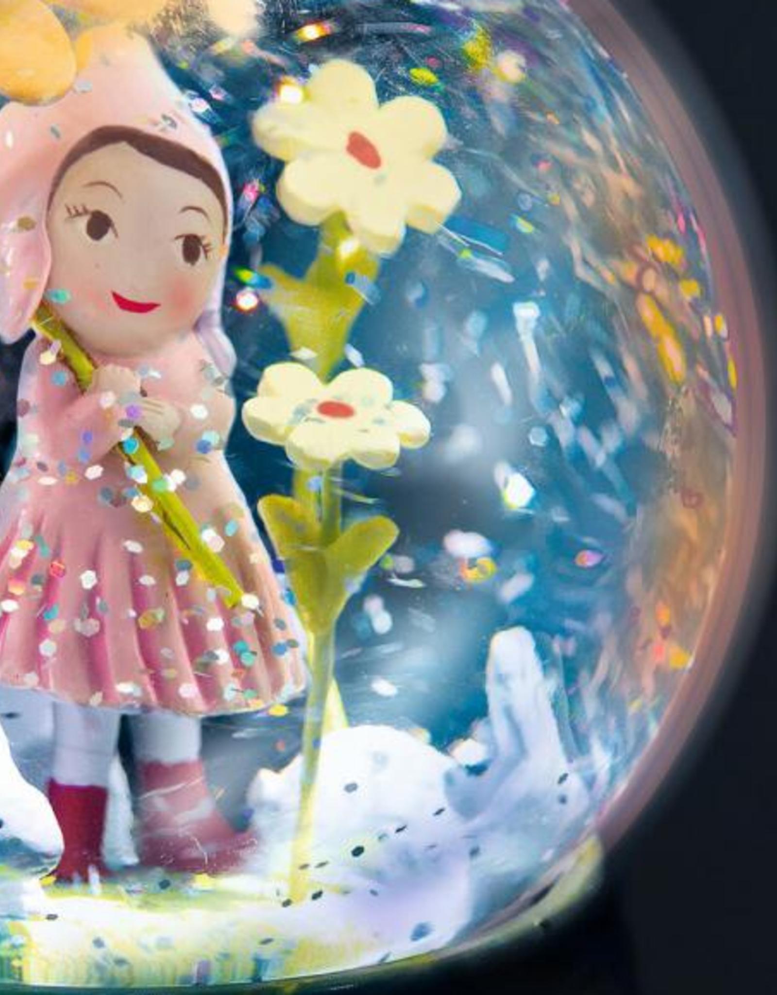 Djeco Nachtlampje Meisje met dwarrelende sneeuwvlokjes - Djeco