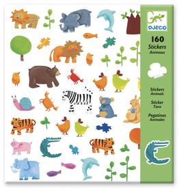 Djeco 160 Stickers Dieren - Djeco