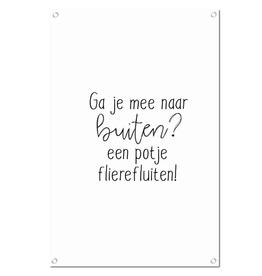"""Winkeltje van Anne Tuinposter met tekst """"Flierefluiten"""" - Winkeltje van Anne"""