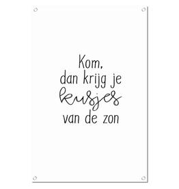 """Winkeltje van Anne Tuinposter met tekst """"Kusjes van de Zon"""" - Winkeltje van Anne"""