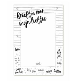 Zoedt Notitieblok A6 Brieffie voor mijn Lieffie - Zoedt