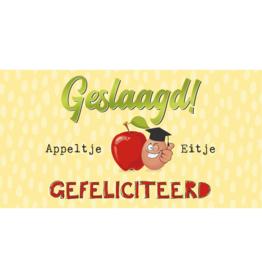 Geslaagd Appeltje Eitje Gefeliciteerd - Wenskaart