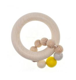 Hess Rammelaar bol met 1 ring (naturel/geel) - Hess