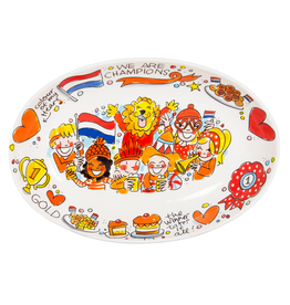 Blond Amsterdam Ovale Schaal Oranje 28,5cm - Blond Amsterdam