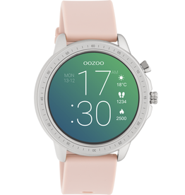 OOZOO Smartwatch Q00312 45mm Zilver Pinkgrey - OOZOO