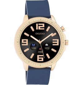 OOZOO Smartwatch Q00326 45mm Rosé Blauw - OOZOO