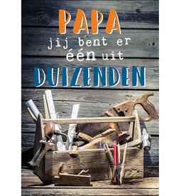 Papa Jij bent er één uit Duizenden - Wenskaart