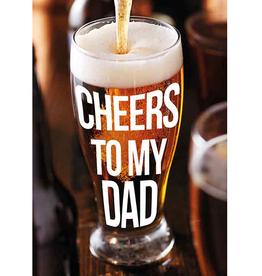 Cheers to my Dad - Wenskaart