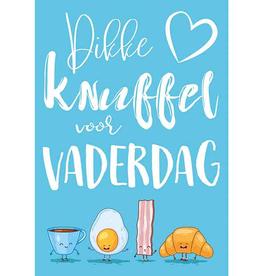 Dikke Knuffel voor Vaderdag - Wenskaart