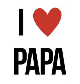 I Love Papa - Wenskaart