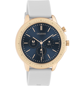 OOZOO Smartwatch Q00323 45mm Grijs/Rosé - OOZOO