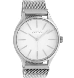 OOZOO Horloge C10691 40mm Zilver Wit - OOZOO