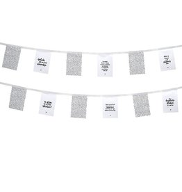 Zoedt Vlaggenlijn voor buiten wit stippen patroon en teksten - Zoedt